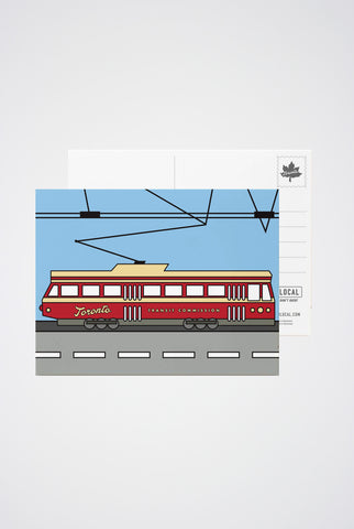 Toronto Streetcar Post Card - Main and Local