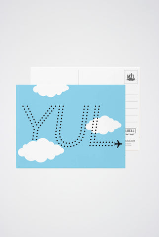 YUL Post Card - Main and Local