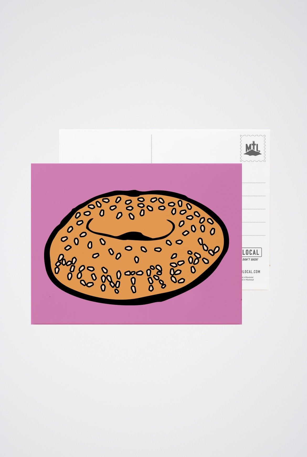 Montreal Bagel Post Card - Main and Local