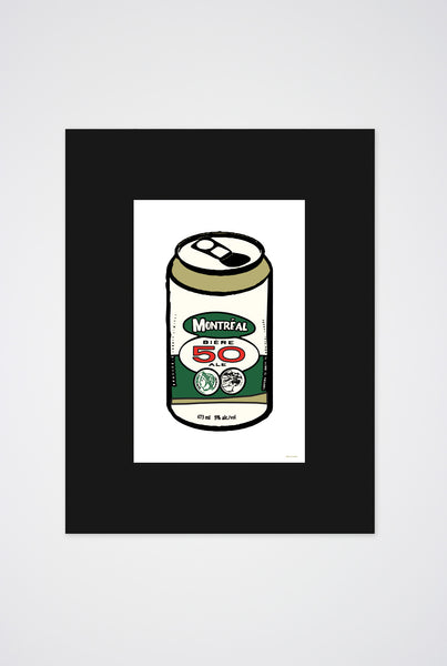 Montreal  Beer Can Art Print - Main and Local
