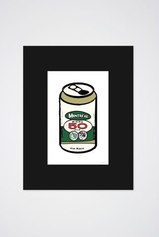 50 Beer Can Art Print - Main and Local
