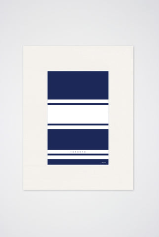 Toronto Hockey Stripes Art Print - Main and Local