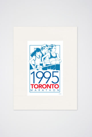 1995 Toronto Marathon Art Print - Main and Local