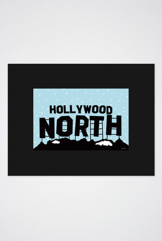 Hollywood North Art Print - Main and Local