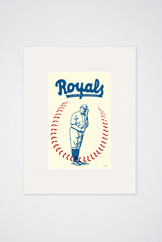 Royals Club de Baseball Art Print - Main and Local