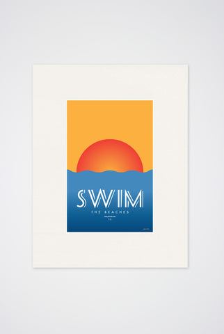 Swim the Beaches Art Print - Main and Local