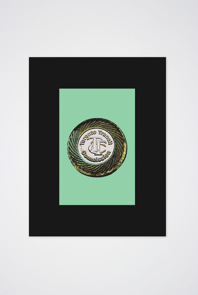 Toronto TTC Token Art Print - Main and Local