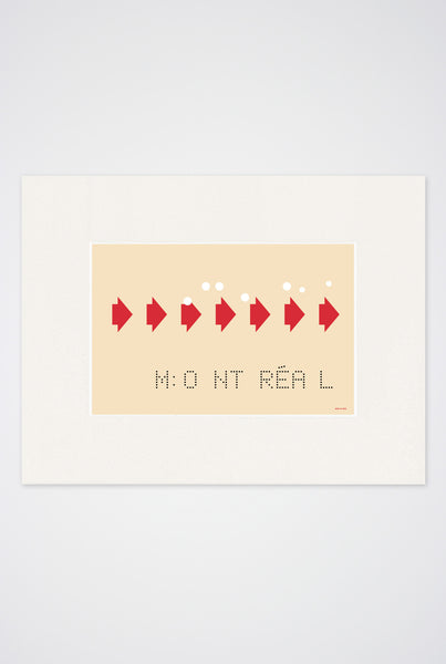 Retro MTL Transfer Art Print - Main and Local