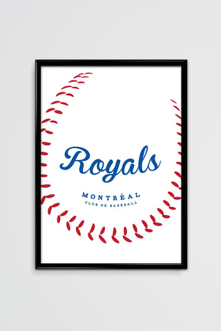 Royals Club de Baseball Silk Screen Poster - Main and Local