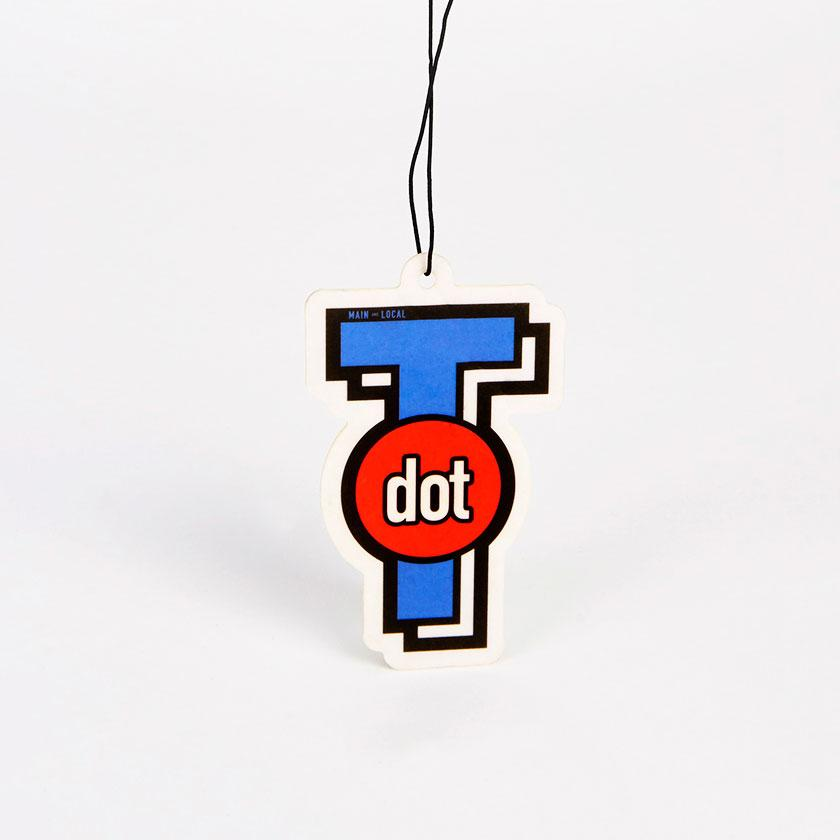 T Dot Icon Air Freshener - Main and Local