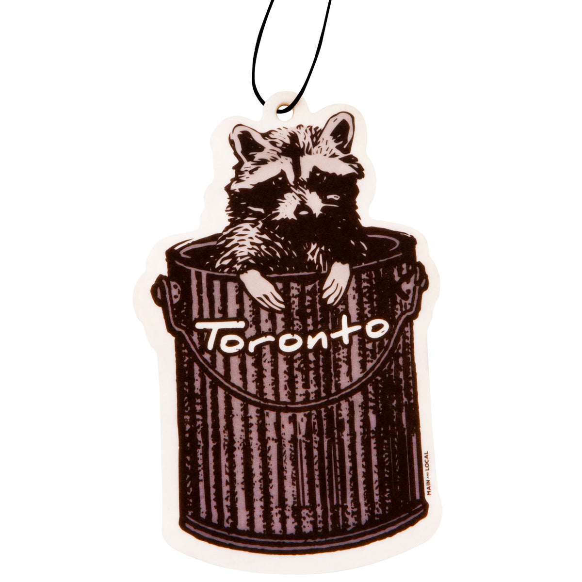 Toronto Raccoon Air Freshener - Main and Local