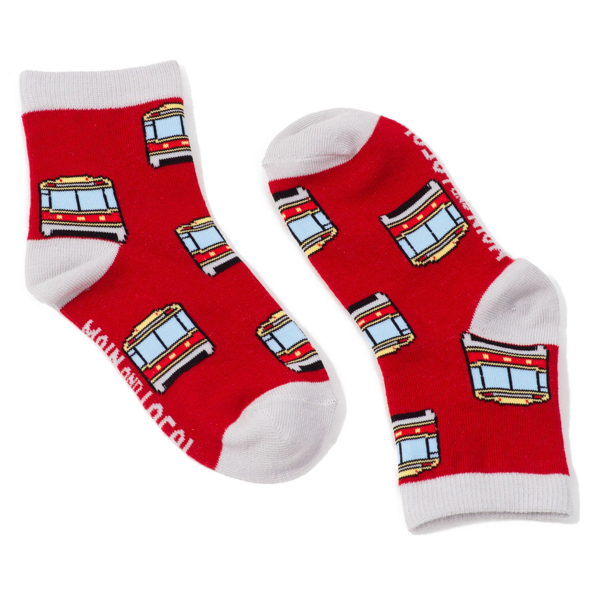 Childrens Toronto Streetcar Socks