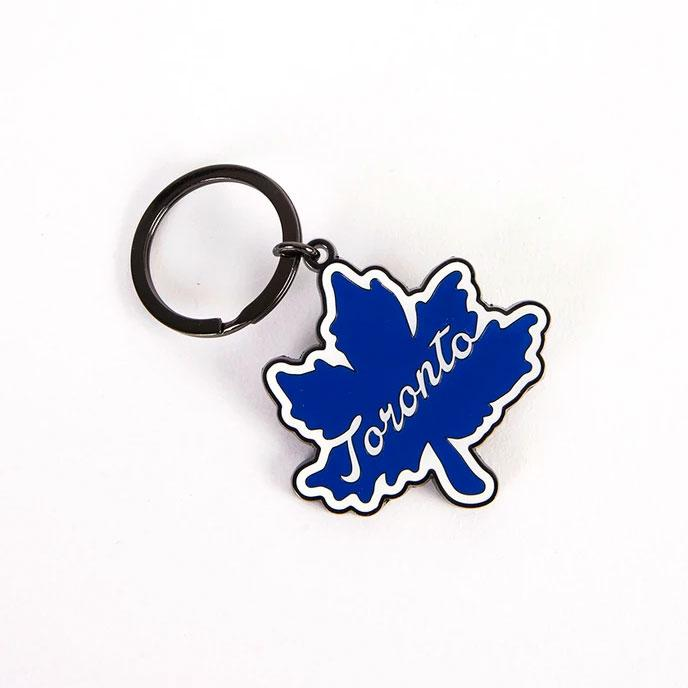 Toronto Leaf Icon Keychain - Main and Local