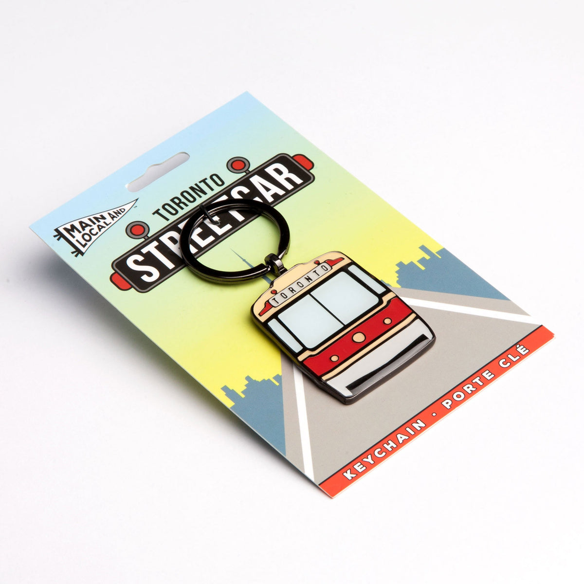 Toronto Streetcar Keychain - Main and Local