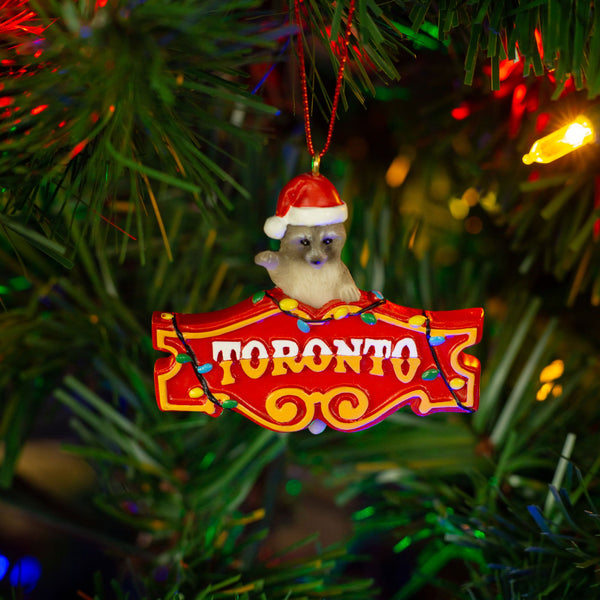 Toronto Raccoon Honest Ed Ornament - Main and Local