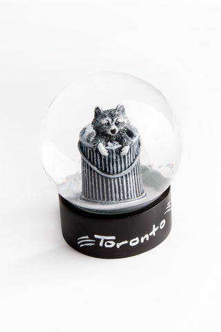 Toronto Raccoon Snowglobe - Main and Local