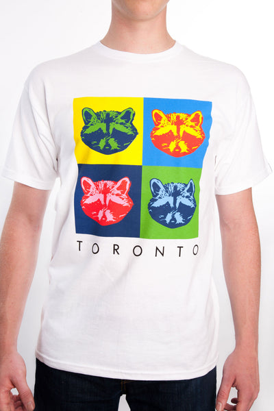 Toronto Raccoon Pop Art Tee - Main and Local