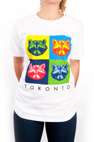 Toronto Raccoon Pop Art Tee