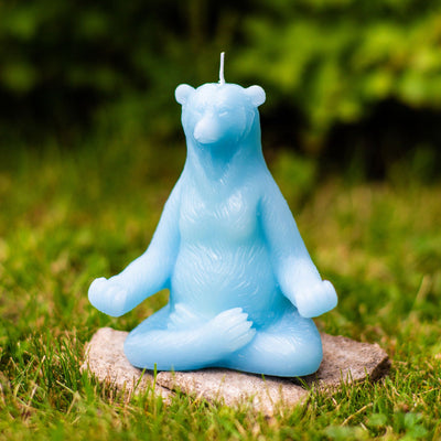 Yoga Bear Candle - Main and Local