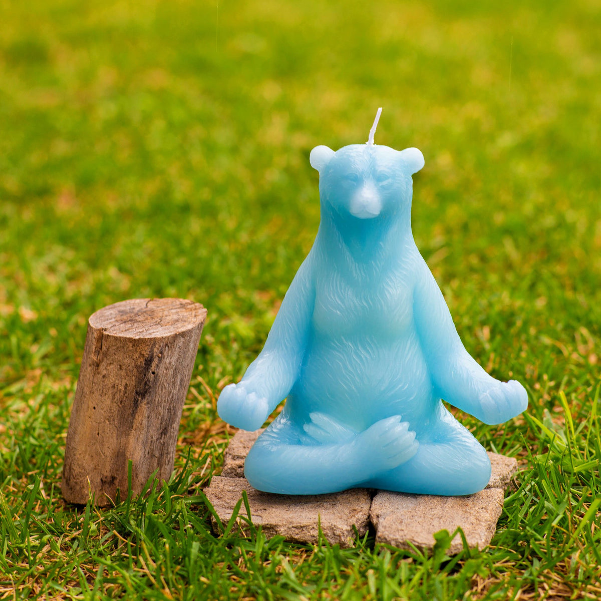 Yoga Bear Candle