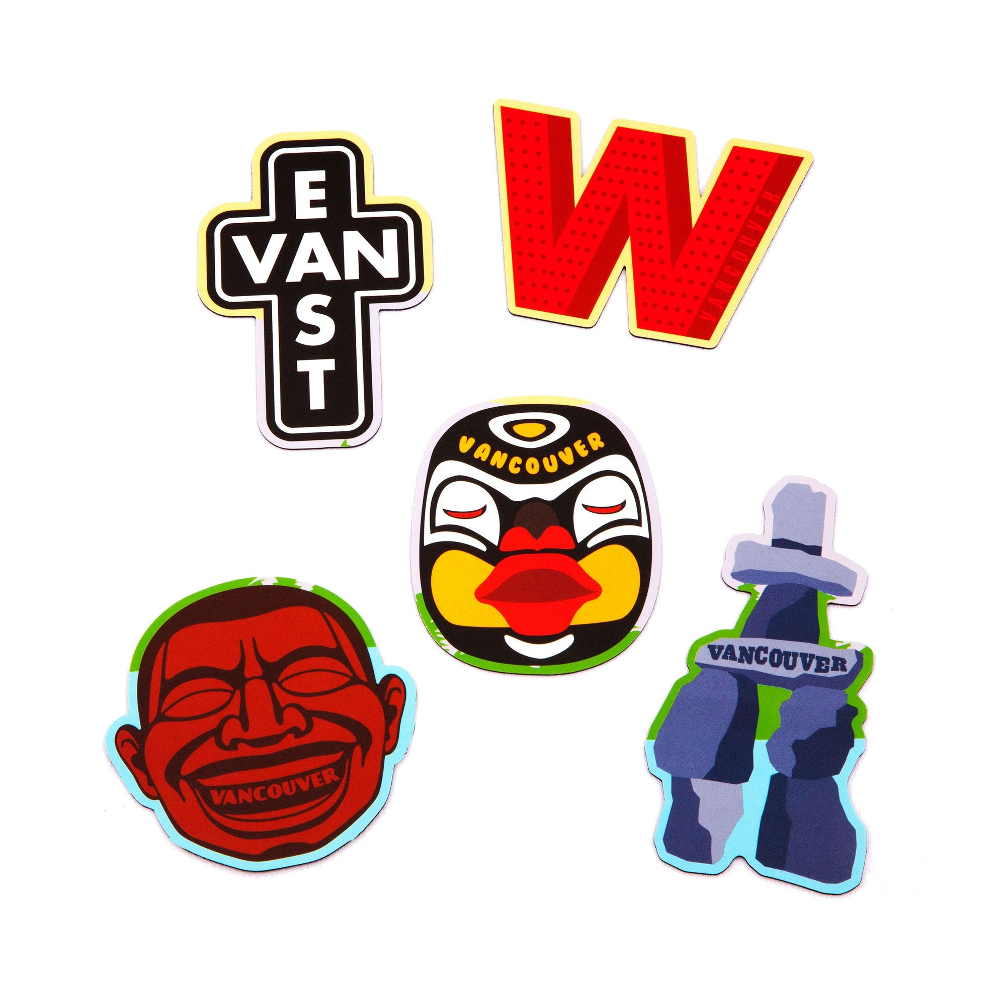 Vancouver Icons Magnet Pack - Main and Local