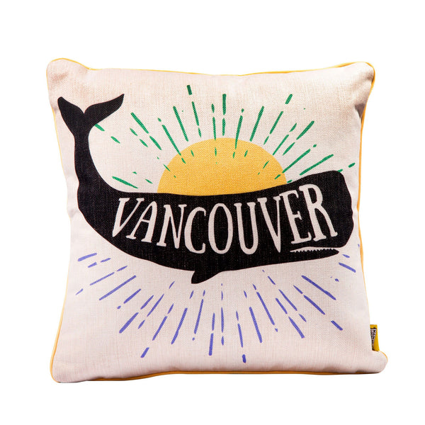 Vancouver Whale Pillow - Main and Local
