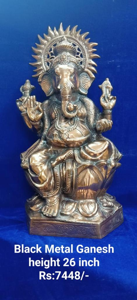 BLACK METAL GANESH 26INCH