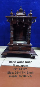 ROSE WOOD MANDAPAM 26X17X13 INCH