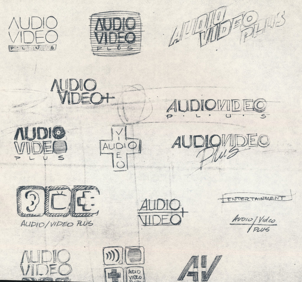 THE VISUAL HISTORY OF AUDIO/VIDEO PLUS: The Origin of the AVP Logo