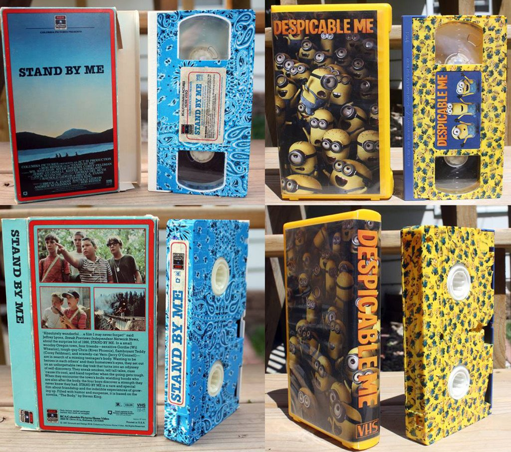 Check Out This Collection of CUSTOM HYDRO DIPPED VHS Crafted by Fellow Tapehead Tyler Bell!