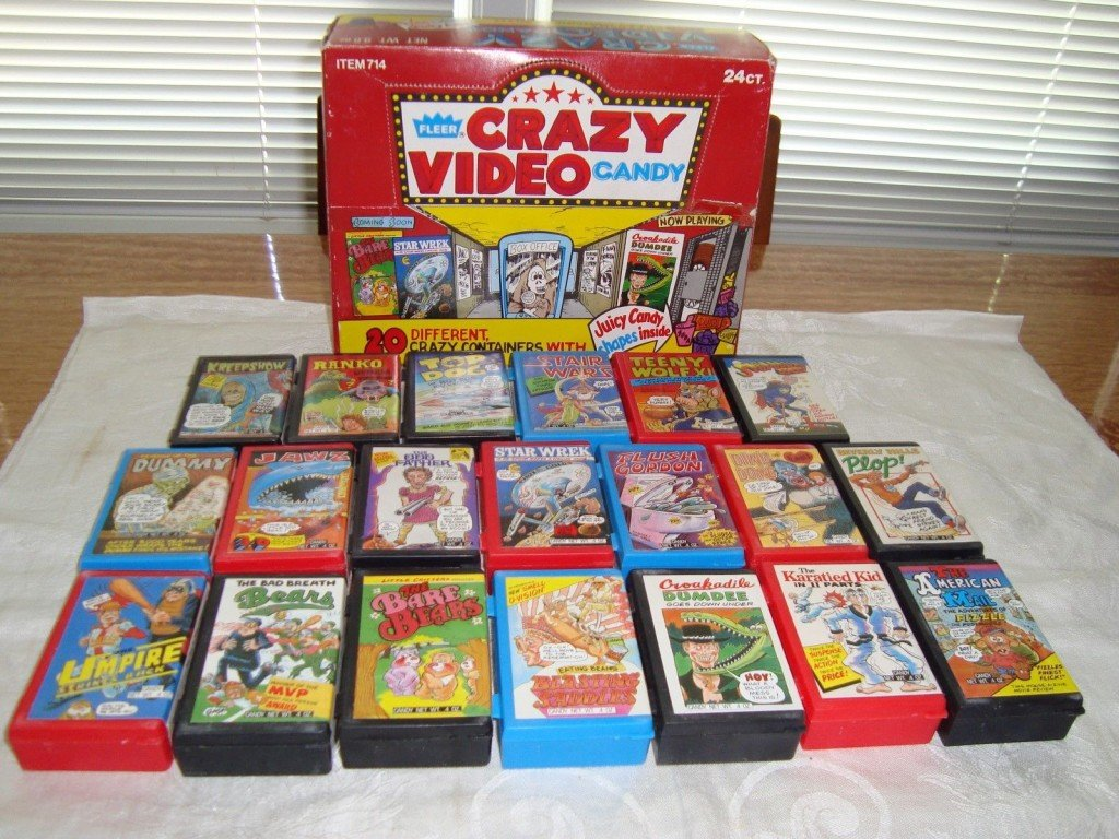 Vintage VHS Candy?! It Exists! Check Out This Obscure 1988 FLEER Creation Called CRAZY VIDEO CANDY!