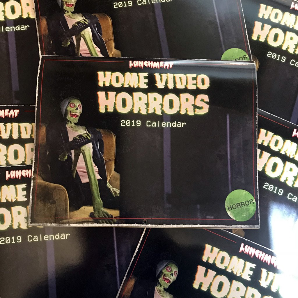 The HOME VIDEO HORRORS 2019 Calendar is Now Available for PRE-ORDER! Get Rewind Radical All Year Long in 2019, Tapeheads!