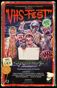 THE MAHONING DRIVE-IN and LUNCHMEAT Proudly Present DRIVE-IN VHS-FEST! Click for Full Details and Ticket Information!