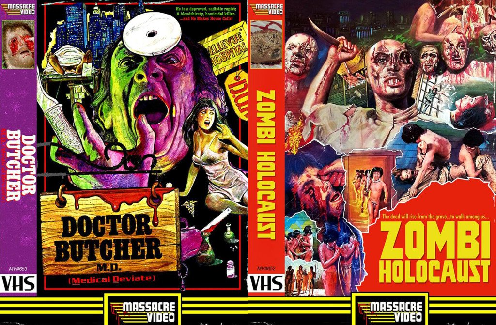 MASSACRE VIDEO Teams Up with SEVERIN FILMS and Brings NURSE JILL, ZOMBI HOLOCAUST and DOCTOR BUTCHER M.D. to Fresh VHS Today (10/21/16) at 6PM EST!