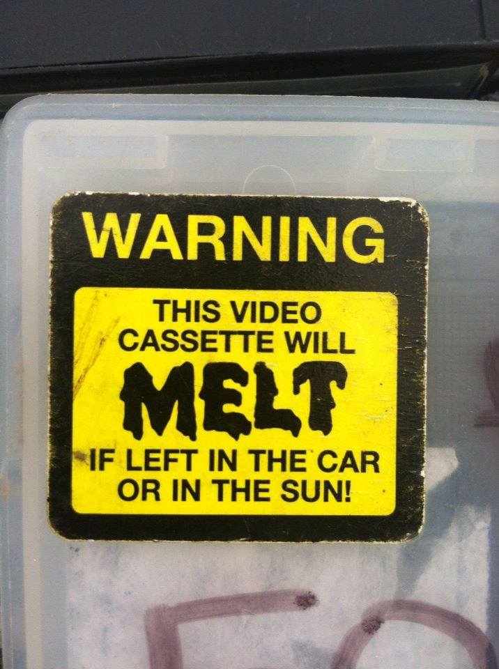 Video Rental Stickers: To Remove or Not to Remove? A Tapehead Debate! PLUS! A Spotlight on the MOVIE MELT Heat Sensor Sticker!