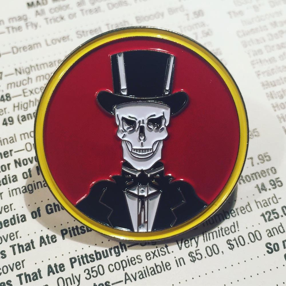 Rad Rewind-Inclined Stuff Alert! DEATH MIST Offers Limited Edition MIDNIGHT VIDEO Enamel Pin!