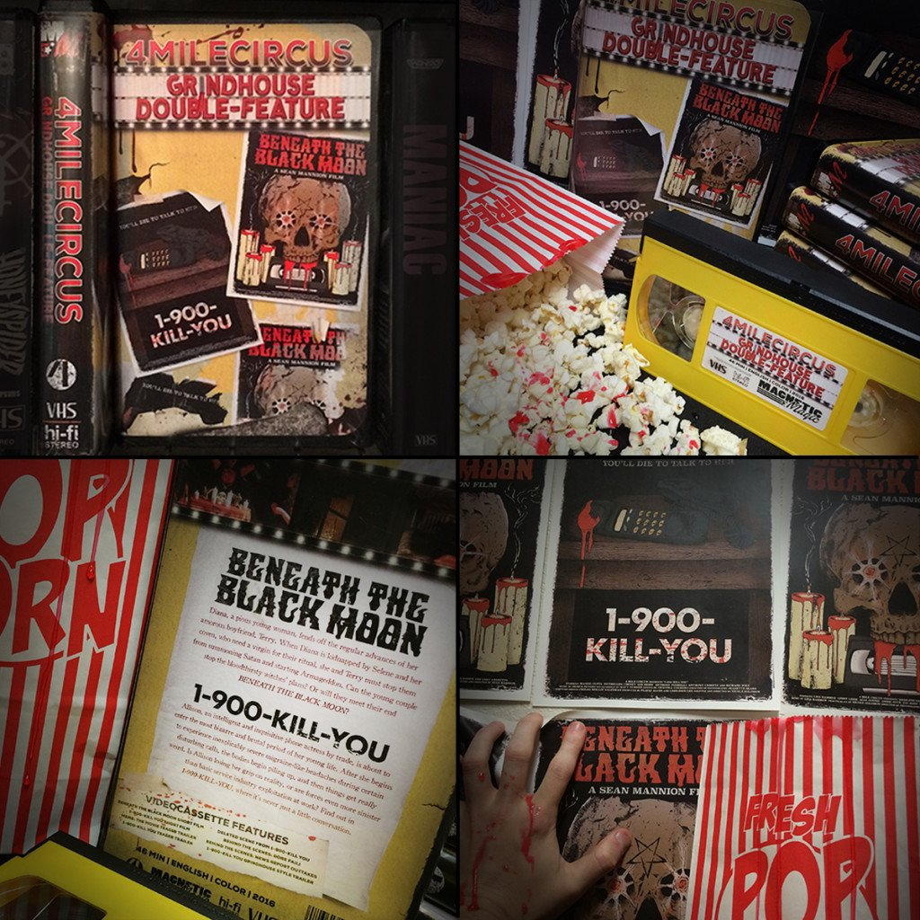 MAGNETIC MAGIC RENTALS Unleashes a Fresh VHS Double-Feature featuring Short Films BENEATH THE BLACK MOON and 1-900-KILL-YOU aka SMALL TALK! Available October 1st!