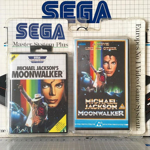 Dope Rewind-Inclined Rarity: The MOONWALKER VHS / Game Cartridge Gift Set for your VCR and Sega Master System!