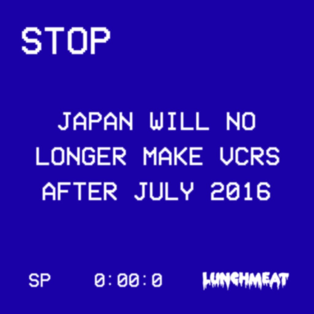 Japan-Based Company FUNAI ELECTRONICS Will Stop Making VCRs at the End of July! Thoughts Moving Forward!