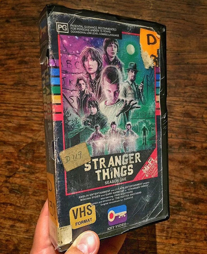 Analog-Inclined Artist Steelberg Creates Amazingly Authentic VHS Fan Art for STRANGER THINGS!