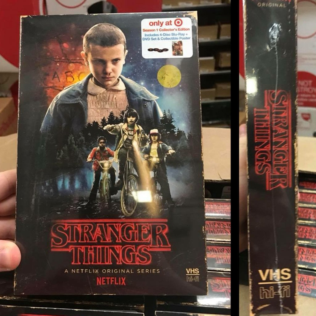 Netflix and Target to Release Exclusive STRANGER THINGS Season One BluRay / DVD Combo in VHS Packaging!