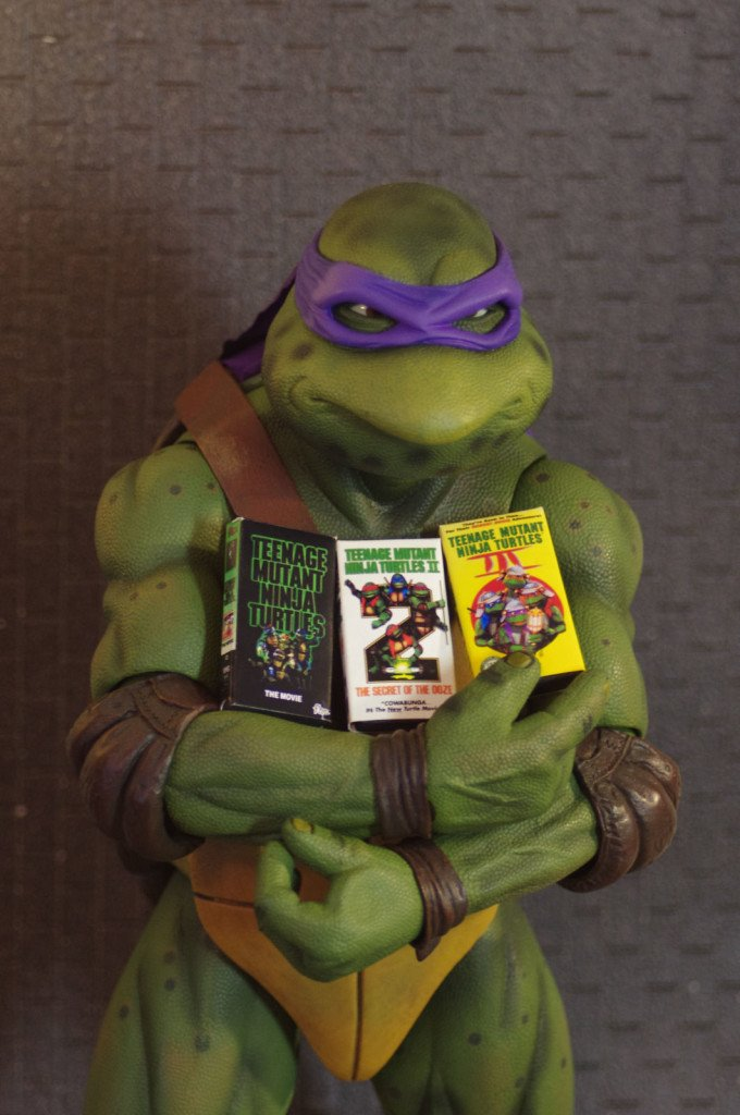 LOOK! Bodacious Teenage Mutant Ninja Turtles VHS Miniatures, Made as a Most Radical Custom Accessory for the NECA TMNT 1990 Movie Figures!