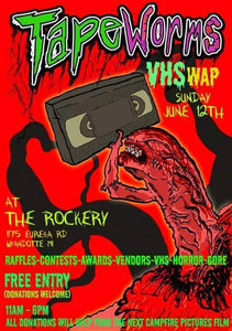 Tapeworms VHSwap is Happening at The Rockery in Michigan on Sunday, June 12th!