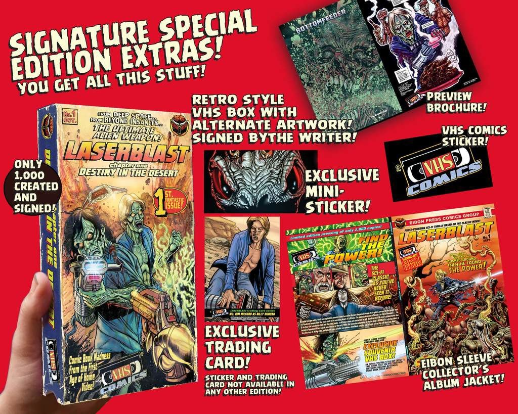 EIBON PRESS Prepares to Unleash VHS COMICS! Comic Book Expansions of Cult Classics LASERBLAST and MANIAC! Exclusive Interview with Writer STEPHEN ROMANO!