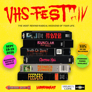 Drive-In VHS Fest IV Comes to Mahoning Drive-In Theater Sept 18-19th 2020! Tickets Now Available for the Premier Tapehead Celebration of the Year!