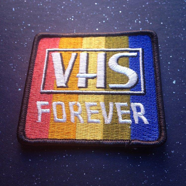 Radical Rewind Goodies: The VHS FOREVER Patch from Portland Patch Project!
