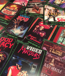 LUNCHMEAT Proudly Presents VIDEORAMA! A Super Limited Edition Trading Card Set Featuring a Spectacular Selection of Killer VHS Cover Art!