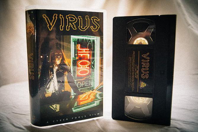Indie Neon-Noir Film VIRUS Comes to Limited Edition VHS from Cyberfools and Weird Life LTR!