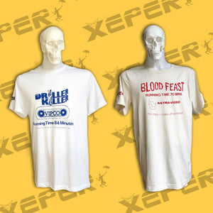 Celebrate VHS Obscenity with a New Line of Screen-Printed Video Nasty Shirts from Xeper Tees from the UK!