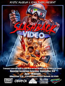 Ryan Turek and Co. Prepare to Unveil VHS Art and Video Store Exhibit SLASHBACK VIDEO on Sept 9th in Burbank, CA! Exclusive Interview and Event Details!